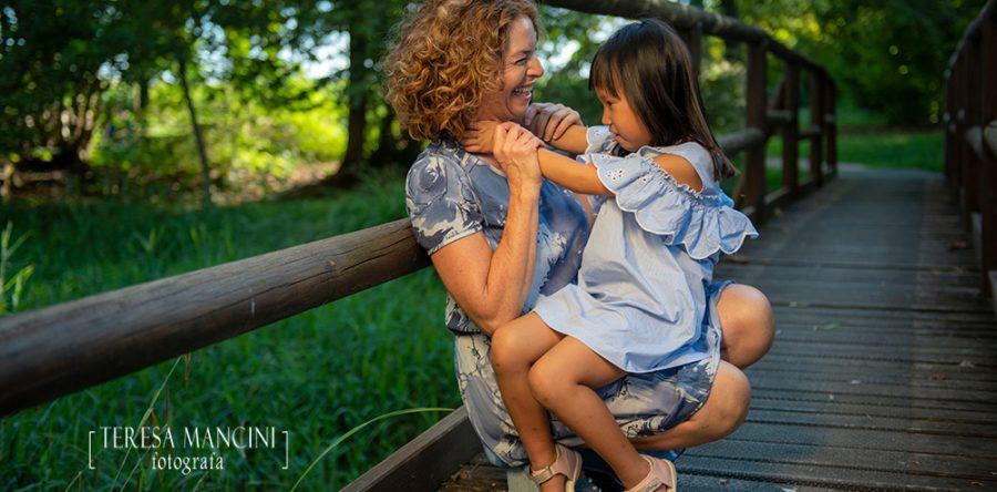 Gaia con la mamma