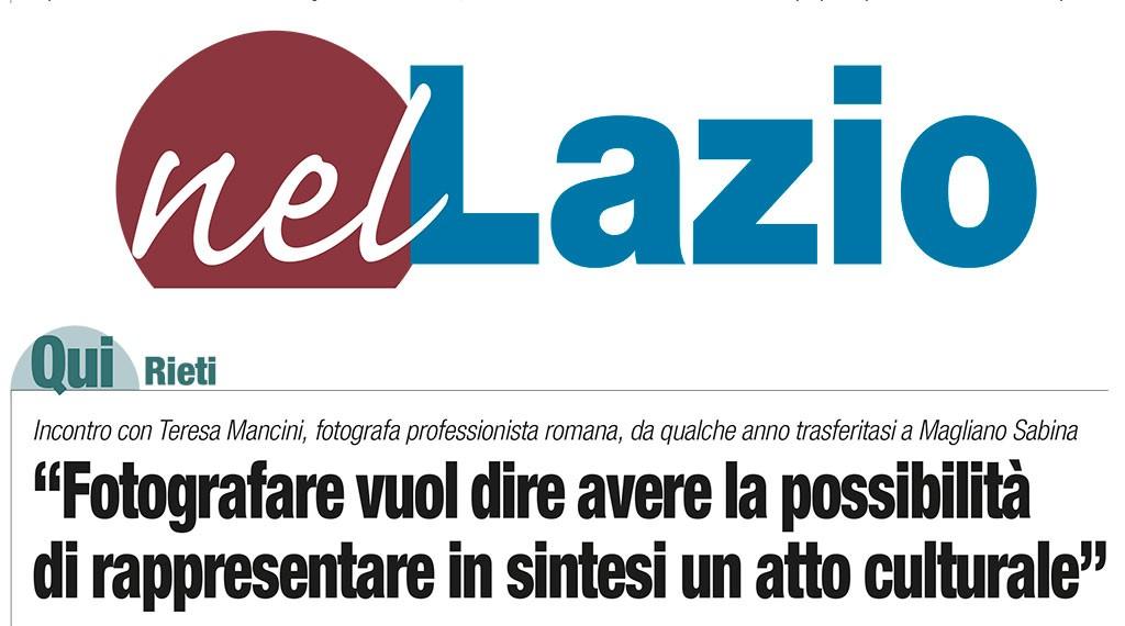 Fotografia e comunicazione Teresa Mancini Il Corriere di Rieti