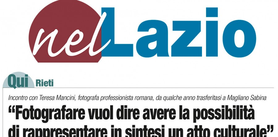 Fotografia e Comunicazione: intervista del Corriere di Rieti